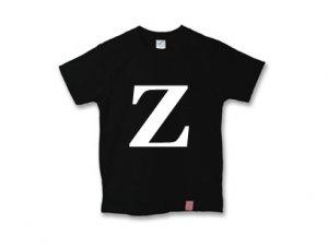 アルファベット 英文字 「 Z 」 Tシャツ
