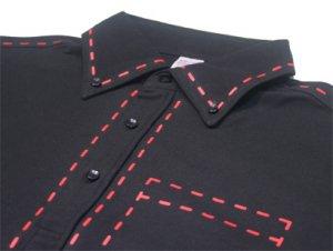ソーイング(縫い目) ボタンダウンポロシャツ