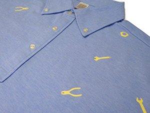 工具柄 ボタンダウンポロシャツ