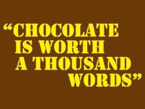 百聞は一見にしかず、チョコは1000の言葉よりも価値がある バレンタインデーTシャツ