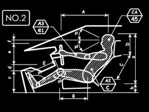 人間工学 車 ドライバー NO2 Tシャツ