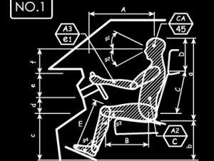 人間工学 車 ドライバー NO1 長袖Tシャツ