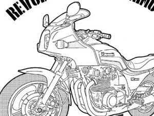 GPZ(バイク)NO62 ジップアップパーカー