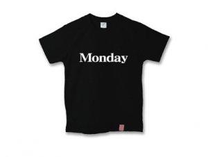 月曜日Tシャツ monday