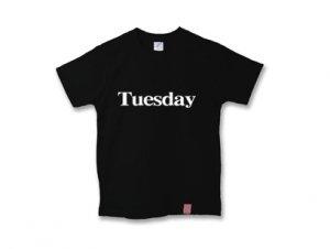 火曜日Tシャツ tuesday