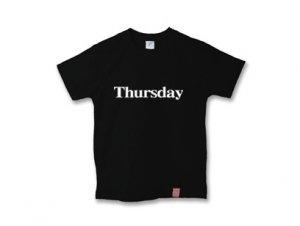 木曜日Tシャツ thursday