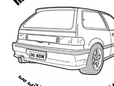 グランドシビック NO.9 ジップアップパーカー