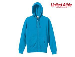 無地ジップアップパーカー 綿100% United Athle 5213