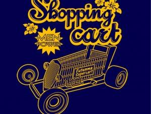 ショッピングカート(ホットロッド)Tシャツ