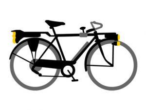 五段ギア自転車 ボタンダウンポロシャツ