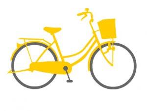 ママチャリ自転車 トートバック