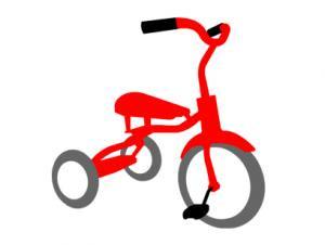 三輪自転車 キッズTシャツ