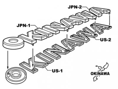 U.S. OKINAWA IN JAPAN ラグラン 長袖Tシャツ