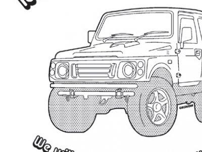 ジムニーJA22 ジップアップパーカー NO.17