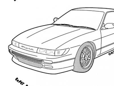 シルビア S13 NO49 ジップアップパーカー