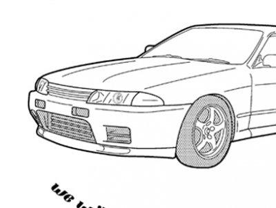 R32 GT-R NO14 ラグラン長袖
