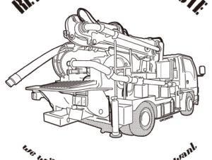 コンクリートポンプ車 NO54 ボタンダウンポロシャツ