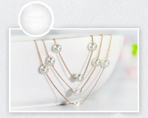 貝人工真珠ネックレス
