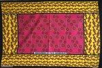 ☆カンガ モンバサ製のピンクと黄色の幾何学模様