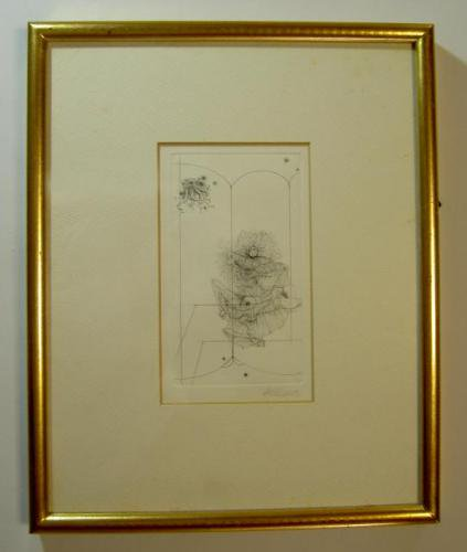 『ハンス・ベルメール銅版画』サイン入 ー閉ざされた城の中で語る英吉利人挿絵よりー - 古書きとら