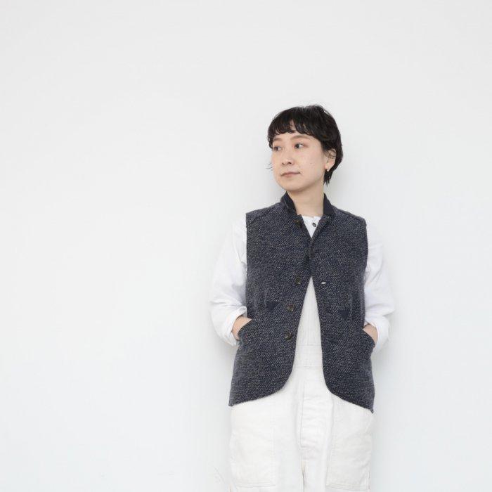 Ojisan vest  Women size / blue