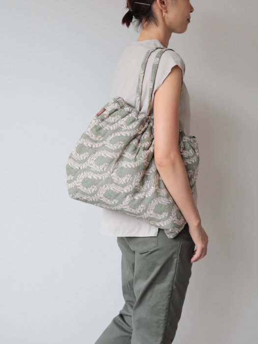 omake/ Hand block print bag / no9