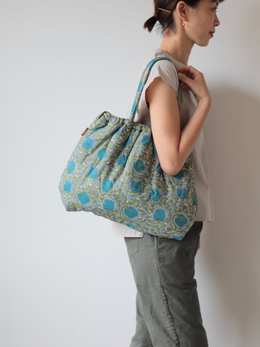 omake/ Hand block print bag / no11