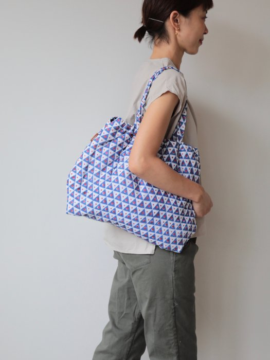 omake/ Hand block print bag / no12