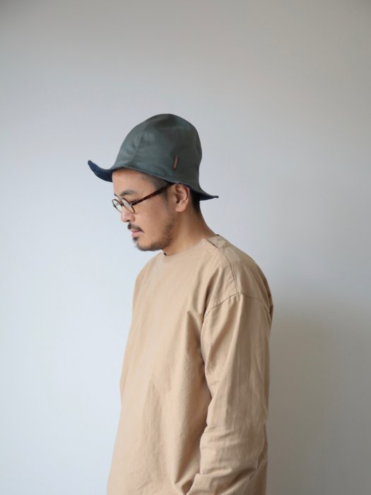 omabow ray hat / light khaki×denim