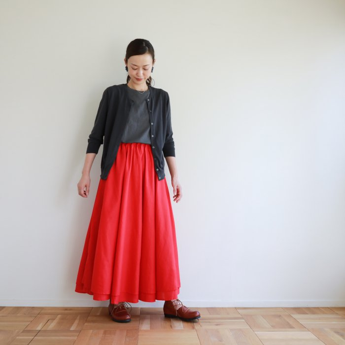 omake / 2way FAB skirt / red