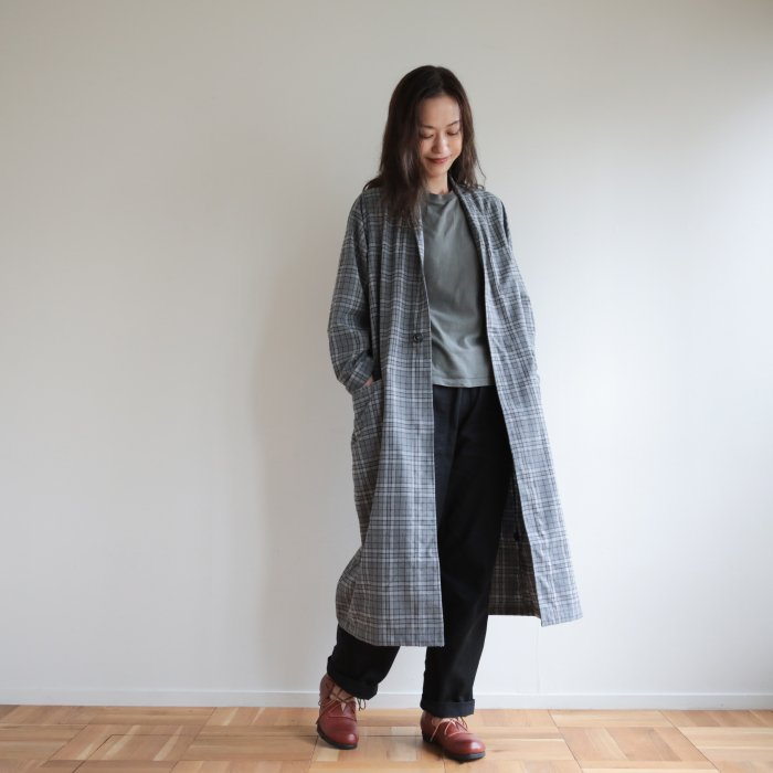 omake / omagown2020 / plaid light gray