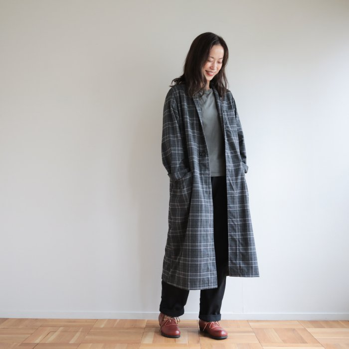 omake / omagown2020 / plaid  gray