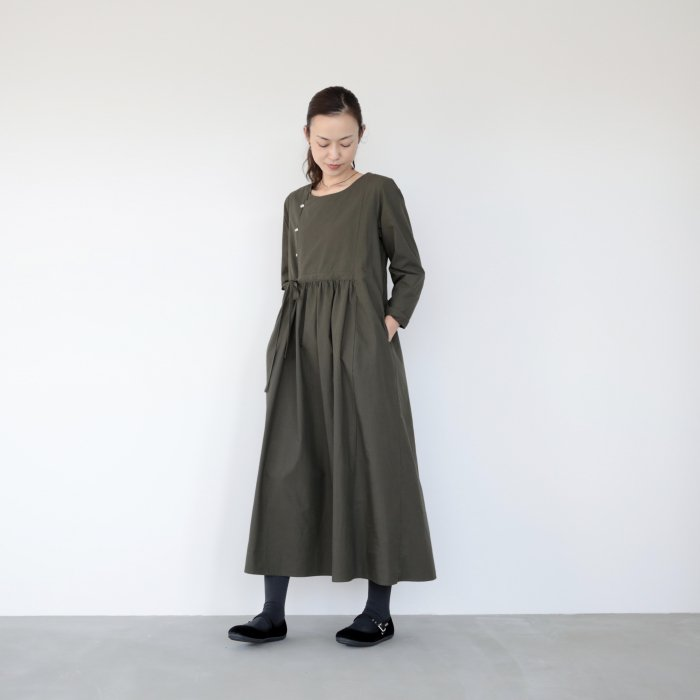 omake / cherry dress / khaki