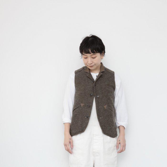 Ojisan vest  Women size / brown