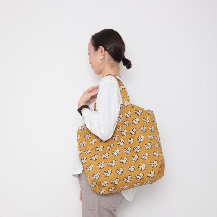 Hand block print kinchaku bag / risu