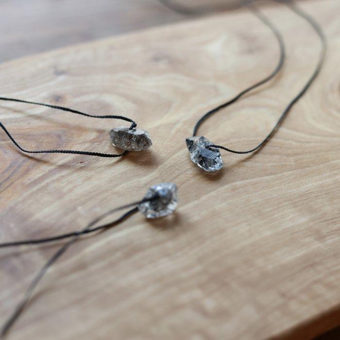 One grain  herkimer-diamond necklace