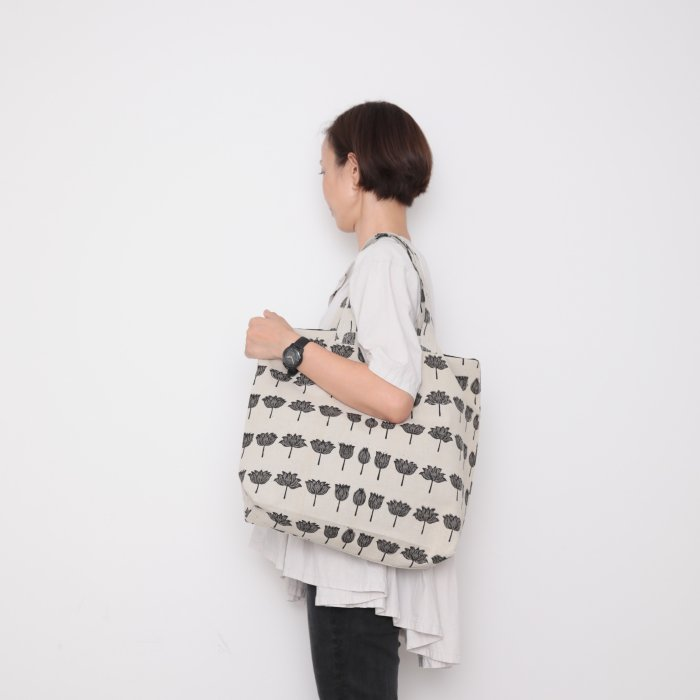 Hand block print kinchaku bag / ichirin