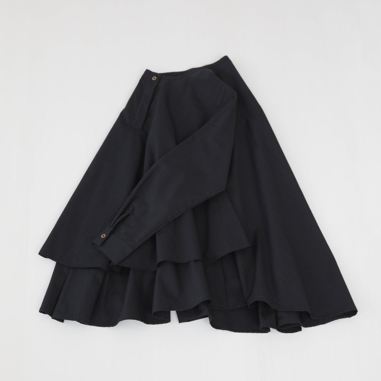 ただいま再製作中 Kasane blouse / black