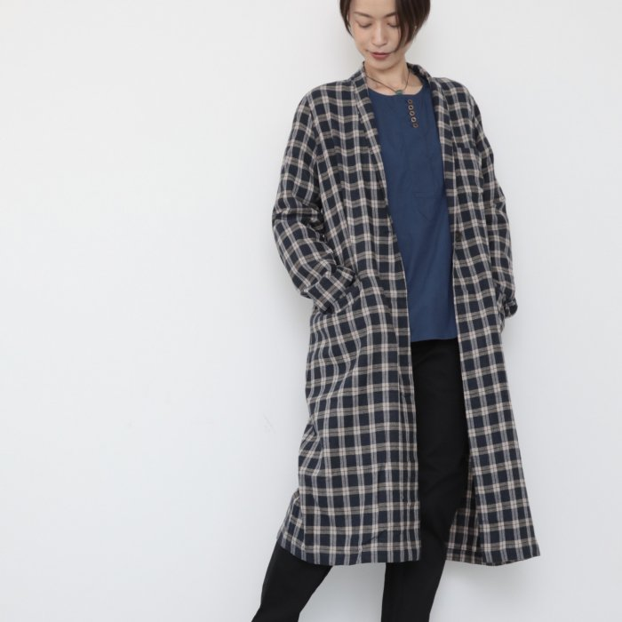 omagown / blue checked