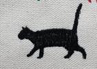 刺繍ネコ柄