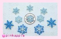 大小青雪の結晶ボタンセット