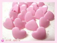 プラスチックスナップボタン【12mmハート】ピンク