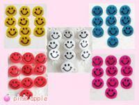 【現品限り】プラスチックスナップボタン【10mmニコちゃん】5色ミックス