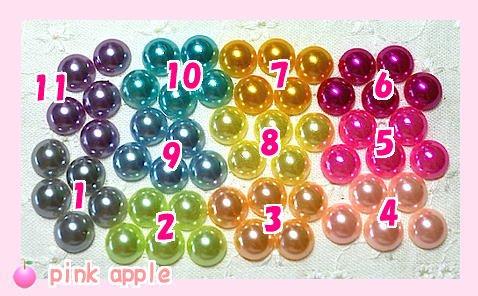 プラスチックスナップボタン【9mm白】+パールプラパーツ
