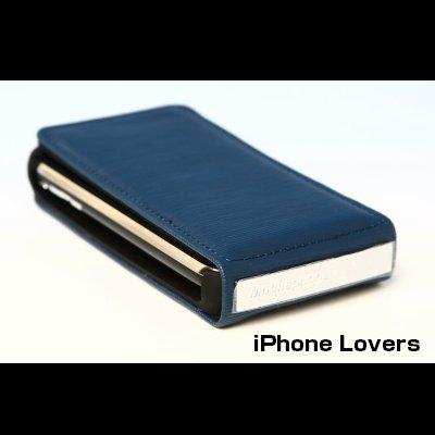 ◆即納◆iPhone表面搾りレザーケース◆日本未発売◆iPhoneケース3G/3GS用◆BLUE◆