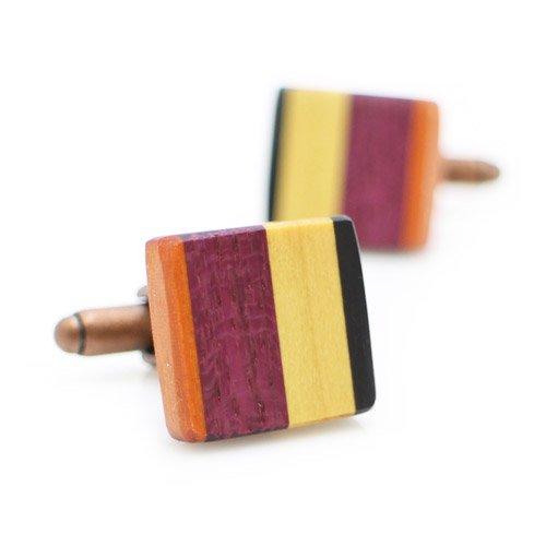 オリジナル 手作り木工 カフス 077