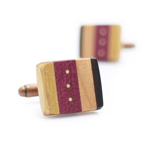 オリジナル 手作り木工 カフス 081