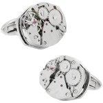 スチームパンク フレームレス 時計ムーブメント カフス