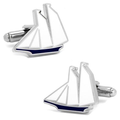 ブルー&ホワイト ヨット カフス