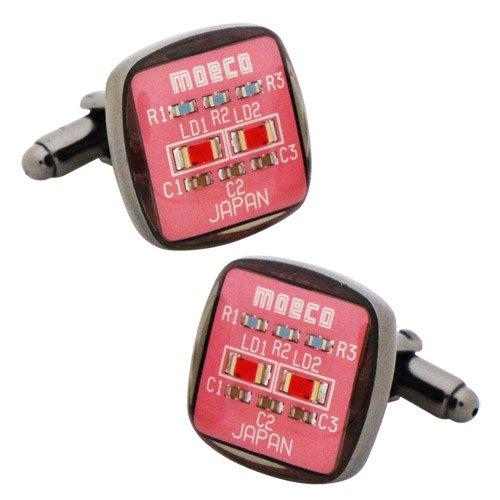 MOECO 基盤 ピンク カフス カフスボタン